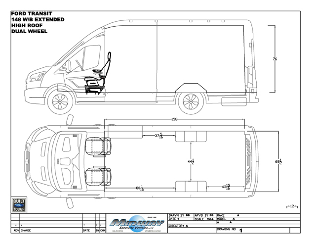Floor plan ford bus