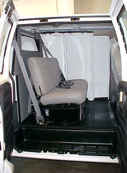 Crew Cab Seating with Barrier